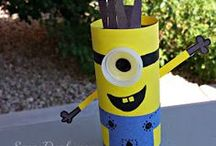 Toilet paper roll crafts / These are crafts you can do using the perpetually-empty toilet paper roll.