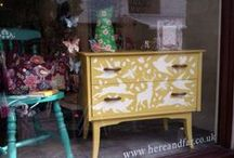 Furniture by Here and Far / Furniture we have previously upcycled using Chalk PaintTM decorative paint by Annie Sloan. We no longer sell upcycled furniture.