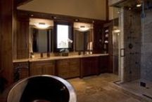 Bathrooms / Enjoy some incredible master en suites and bathrooms inside some of our custom timber frame homes