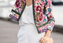 Summer Style / Inspiration for a fun summer wardrobe. Inspired by maxi skirts, floral prints, chunky jewellery, sequins & blazers.