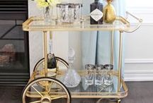 Bar Cart Obsession / Bar cart inspiration. The many styles of bar carts, from vintage to modern.