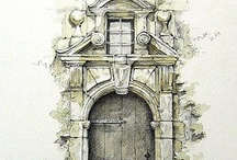 Architectural Drawings and Illustration / by Marcos Borges