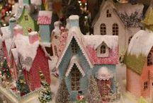 Putz Paper & Glitter Houses
