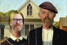 American Gothic Parodies / American Gothic Meets the 21st Century. Find hilarious American Gothic parodies, funny photos, silly art, and crazy versions of American Gothic.