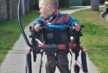 Dexter & Cerebral Palsy / Brain damage found at 30 days, led to Dexter's cerebral palsy (spastic quadriplegia, level 4)... He works daily to teach his body to do what he wants it to. He's taught us a lot about cerebral palsy and different therapies. www.lovedexter.weebly.com