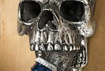 Skulls. Human Skull Art & Decor / Skulls. Find artistic skulls, goth skull decor, bizarre skull art, human skull relics, creepy Halloween skulls and more. After all, bone lasts longer than we flesh and blood humans do.