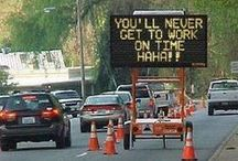 Commuting: Stuck in Traffic / Commuter Humor. Find commuting jokes, traffic jam humor, gasoline jokes and funny things to think about when you're stuck in traffic--even though that's not funny.
