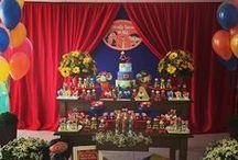 Piquenique Show da Luna - Festa de irmãos / Decoração para menino e menina, lembranças, comidinhas, etc