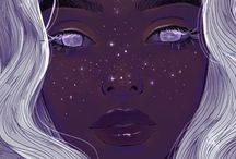 c o s m i c ✡ / sparkling and starry illustrations, art and graphics