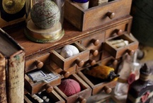 Cabinets & Cases of Curiosity / I've always been fascinated with collections of random things, on shelves & in cabinets on display, or secretly kept in cases, seemingly showing something different with each look. / by Jennifer Ray Miller