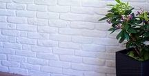White Brick Slips / Completed Project using Kuci Designs White Brick Slips