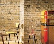 Light Coloured Brick Slips / Completed projects using Light coloured Brick Slips from Kuci Design