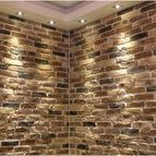 Golden Brick Slips / Golden and Creme brick slips available from Kuci Design