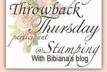 """Throwback Thursday Challenge / This board features past projects that I  post for My challenge called """"Throwback Thursday"""" or #TBT. Challenge held at my Blog: """"Stamping with Bibiana"""" ONCE a month on Thursdays. The purpose is to revive in a NEW post an Old Artsy-Crafty project. Prizes and Winners will be announce the Wednesday previous to the new challenge starts, with Great Sponsors such as """"Memory Box"""", """"Blue Moon Scrapbooking"""", """"Paper Crafter's Library"""", """"Lost Coast Designs"""" and many more companies. Details at my blog."""