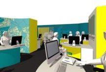 Bitterne office design / Mood board for office refurb