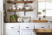 """Kitchen and dining room / """"I always had a fantasy of being a chef, because I like kitchen life."""""""