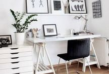 Home office / The best ideas come from cozy places with good vibes.