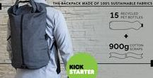 HOLYFANCY - The Sustainable BackPack / Sustainable innovative backpack made of 15 recycled PET bottles and 900g of cotton scraps