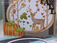 Cards: Fall by Me / Cards that I have created using various stamp companies and dies for Fall and Thanksgiving
