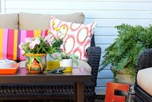 Outdoor Spaces / Inspiration for my summer garden ad outdoor space.