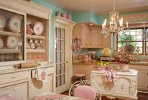dreamy kitchens shabby and vintage style! / so beautiful ideas!