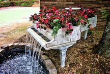 fairytale outdoors / gardens and flowers arrangments so beautiful like drawings!