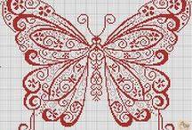 Point de Croix Papillons
