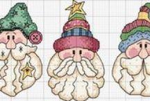 Point de Croix Père Noel - Santa