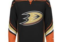 Anaheim Ducks - Official NHL Hockey Jerseys / We are the leading manufacturer of professional sports lettering & numbering and we have been selling officially licensed NHL jerseys and apparel via the internet since 1999. Visit: CoolHockey.com for more!