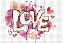 Point de croix Love Amour