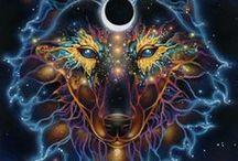Fantasy - Loups esprit Indien