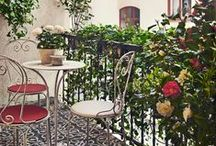 BALCONIES AND PATIOS –BALKONGER OCH UTEPLATSER / Decorating inspo and ideas for your balcony or patio.