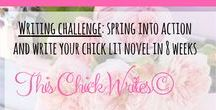 This Chick Writes© / #ThisChickWrites@ is a FREE 5-day challenge to help you spring into action and get your #chiclit novel out of the drawer and onto the paper. Join us and get access to freebies, printable worksheets, an exclusive Facebook community, feedback on your writing and prizes! You can sign up here: www.thischickwrites.com