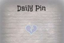 Daily Pin / This is a board where I update you on my life daily! I post it in the description of the pin. None of these pins belong to me unless I specifically say so. ❤️