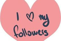 JuSt 4 My FOLLOWERS / I'm Glad you Decide to Follow me. I'll Try my Best to Pin as much as i can. Repinning is always Flattering  / by Amy Chavez