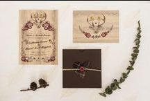 Invitation meets Inspiration: Deer Winter / We've created a creative wedding look inspired by our Deer Winter stationery. ⚡ A little of our paper goodness can go a long way! ⚡