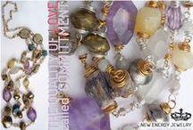NEW ENERGY JEWELRY crystal love energy necklaces / Liebesenergie-Edelsteinketten