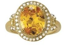 Chic Citrine / Citrine is a variety of quartz whose color ranges from a pale yellow to brown. Natural citrines are rare; most commercial citrines are heat-treated amethysts or smoky quartzes. It is nearly impossible to tell cut citrine from yellow topaz visually, but they differ in hardness.