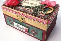 Lovely boxes. / A variety of beautiful decoupage boxes. / by Laudice Sousa