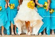 Show me your Colours: Blue and Yellow / Going beyond traditional colour palettes on your wedding day.