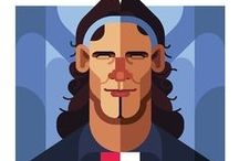 Football illustrations by Daniel Nyari