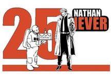 Speciale  Lo Spazio Bianco Nathan Never 25 - Omaggi / Omaggi a locandine di celebri film di fantascienza riadattate al personaggio Bonelli Nathan Never, appositamente creati per lo speciale dedicato dallo Spazio Bianco al compimento dei 25 anni del personaggio.