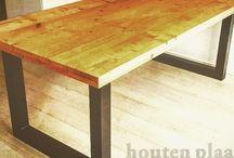 """Houten plaatje productie  """"tafels"""" / Tafels"""