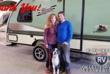 OUR CUSTOMERS! | GillettesInterstateRV.com / View the onslaught of our SATISFIED CUSTOMERS just before they take their new RV purchase off our lot for the first time! Happy camping folks! #GORVING