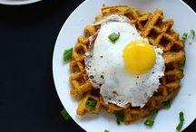 Breakfast Scenes / Lovely morning scenes of sweet and savory breakfast.