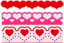 Vystřihovánky sv.Valentýn / Svatba / Láska / sv. Valentýn, svatba, láska, Amor, srdce