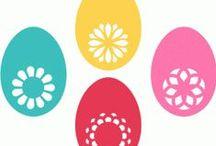 Vystřihovánky Velikonoce / Velikonoce, vajíčka, zajíčci, beránci atd...