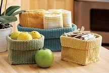 Háčkování - košíky / háčkované košíky, kyblíky, krabičky, tácky, misky apod.