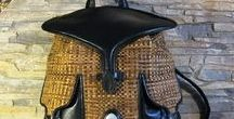 сумка кожаная плетёная