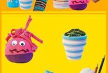 Kreatives - Crafts aus der Kinderseitenwelt / Basteltipps der Kinderinternetseiten